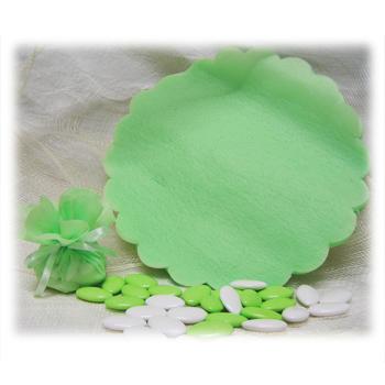 Tulle intissé - Vide - Vert Anis