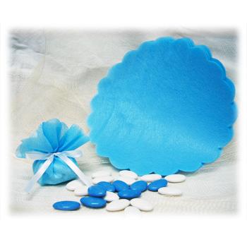Tulle intissé - Garni - Bleu Pâle