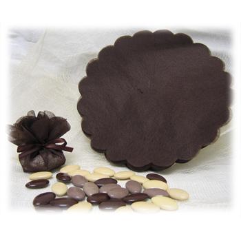 Tulle intissé - Vide - Chocolat