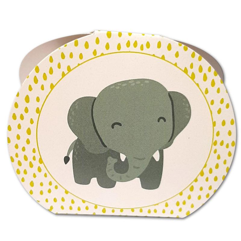 Boîte éléphant carton