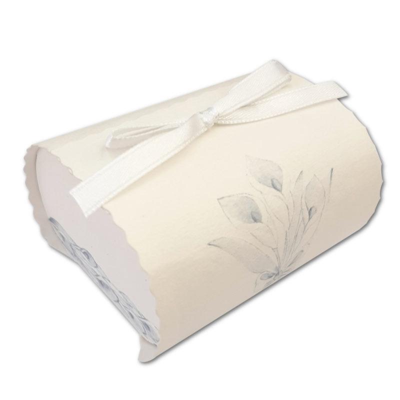 Boîte allongée ivoire motif fleur