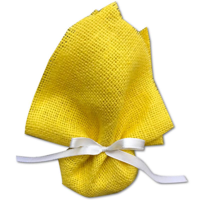 Carré de jute jaune