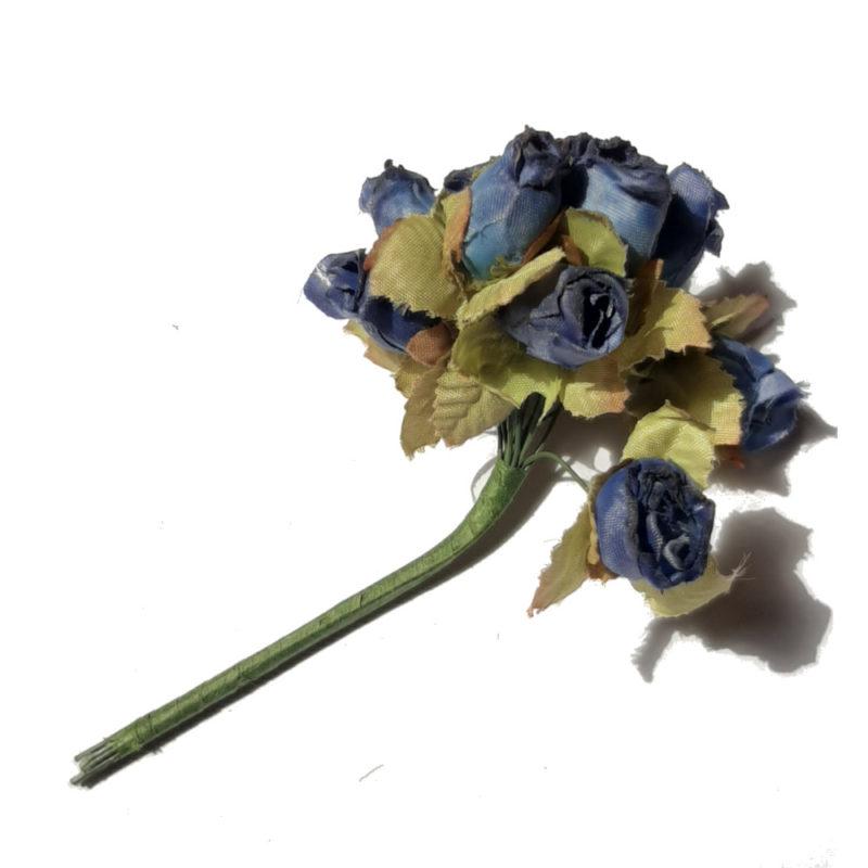 rose bleu deco