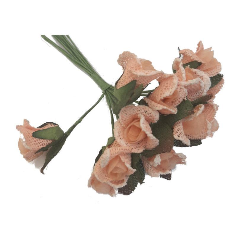 fleur jute saumon