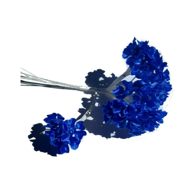 fleur myosotis bleu electrique